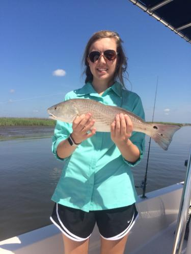 redfish charter trip